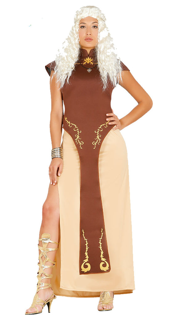 This Game of Thrones style Ladies Dragon Queen Daenerys Costume is perfect for dressing as Daenerys Targaryen, Mother of Dragons.