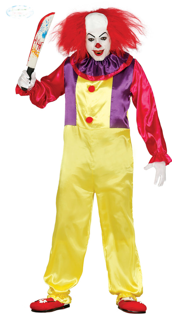 Men's Killer Clown Costume Pennywise Adult