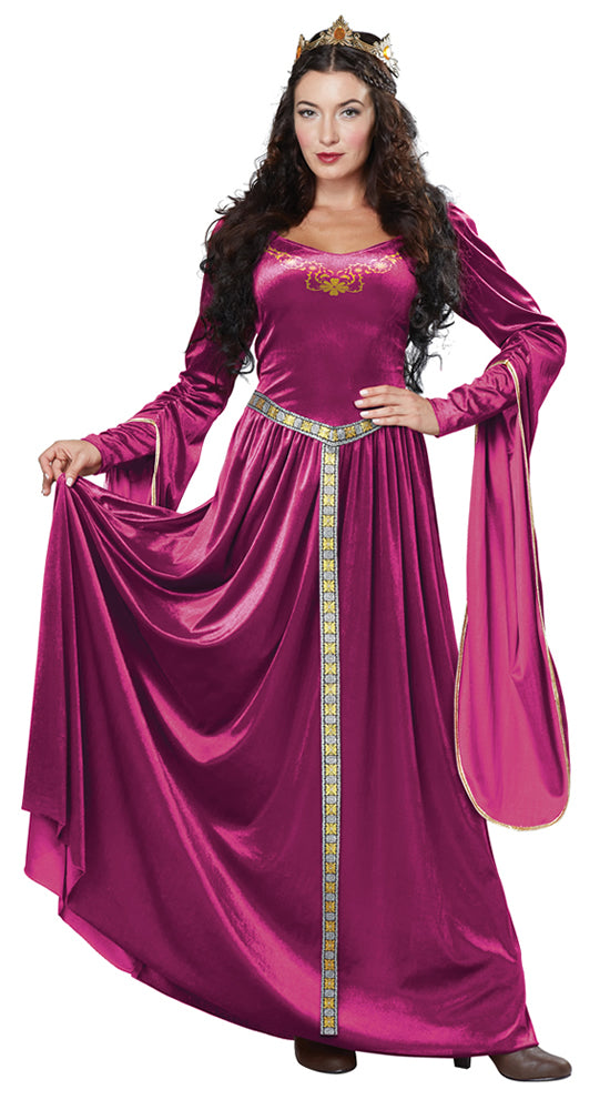Rule your kingdom and have knights bow to you in this regal Lady Guinevere Cherry costume.
