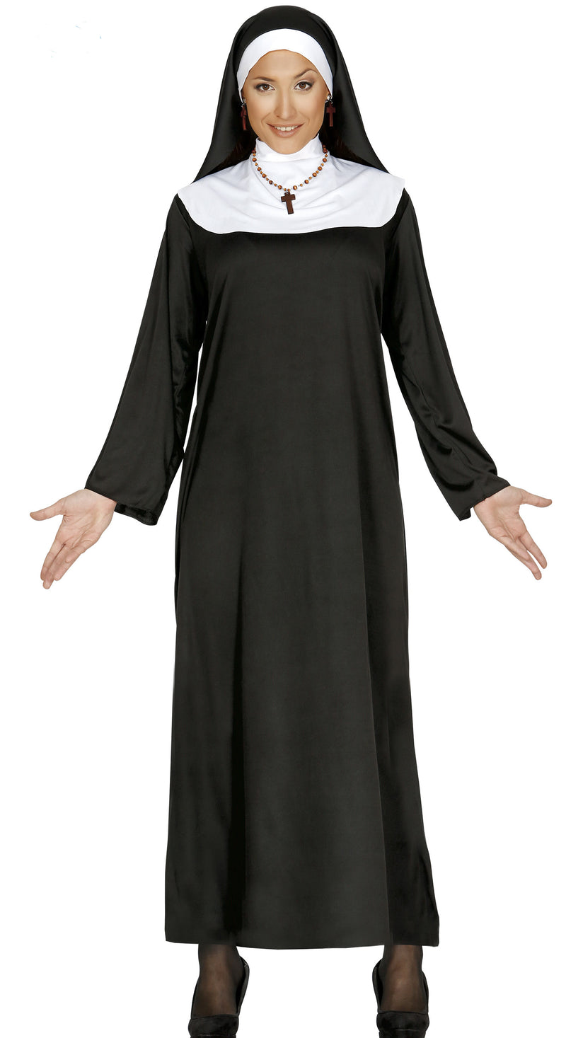 Ladies nun's fancy dress costume.