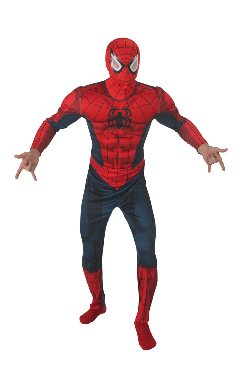 This officially licensed Spiderman costume features a printed EVA chest suit with padded arms and of course mask.