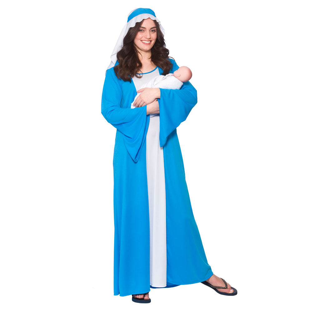 Adult Virgin Mary Nativity Play Costume