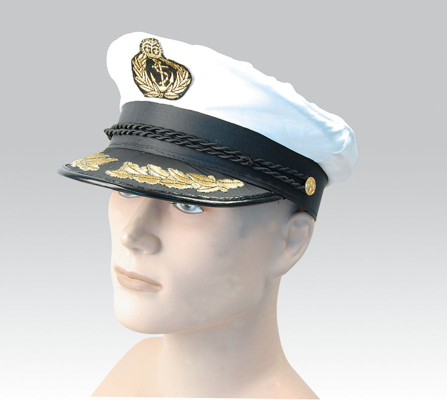 Adults Deluxe Sailor Captains Cap
