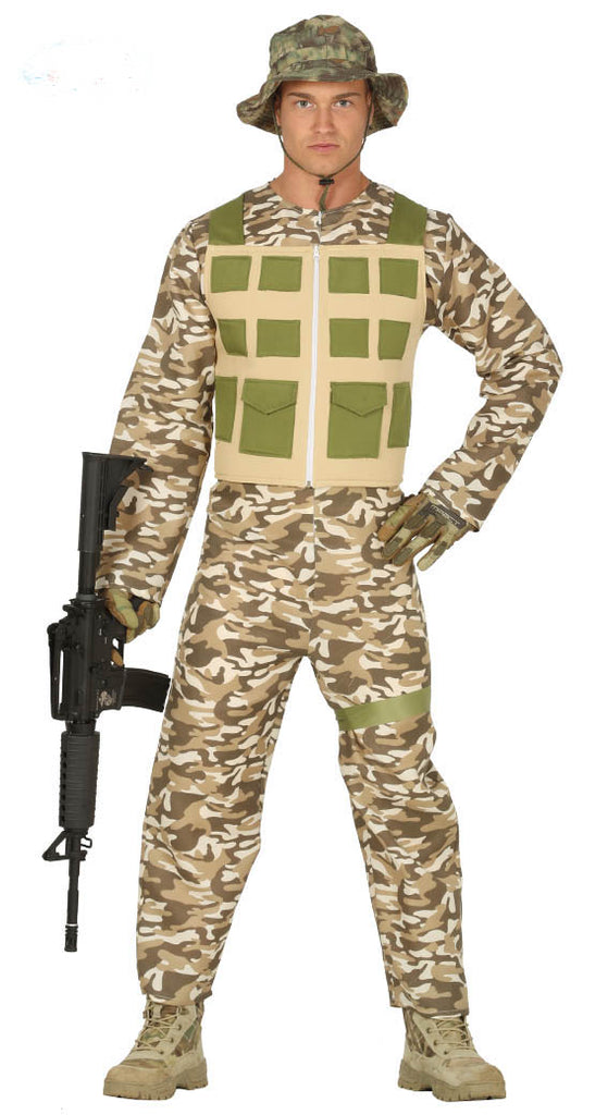 Adult Desert Army Military Soldier Commando Uniform Costume