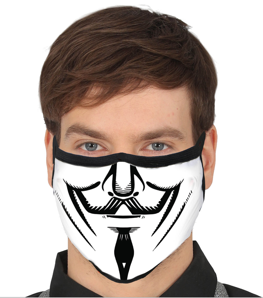 Anarchy Guy Fawkes V for Vendetta Face Mask