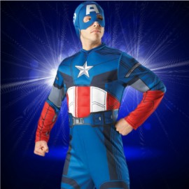 The Avengers Captain America Muscle adult men's Costume