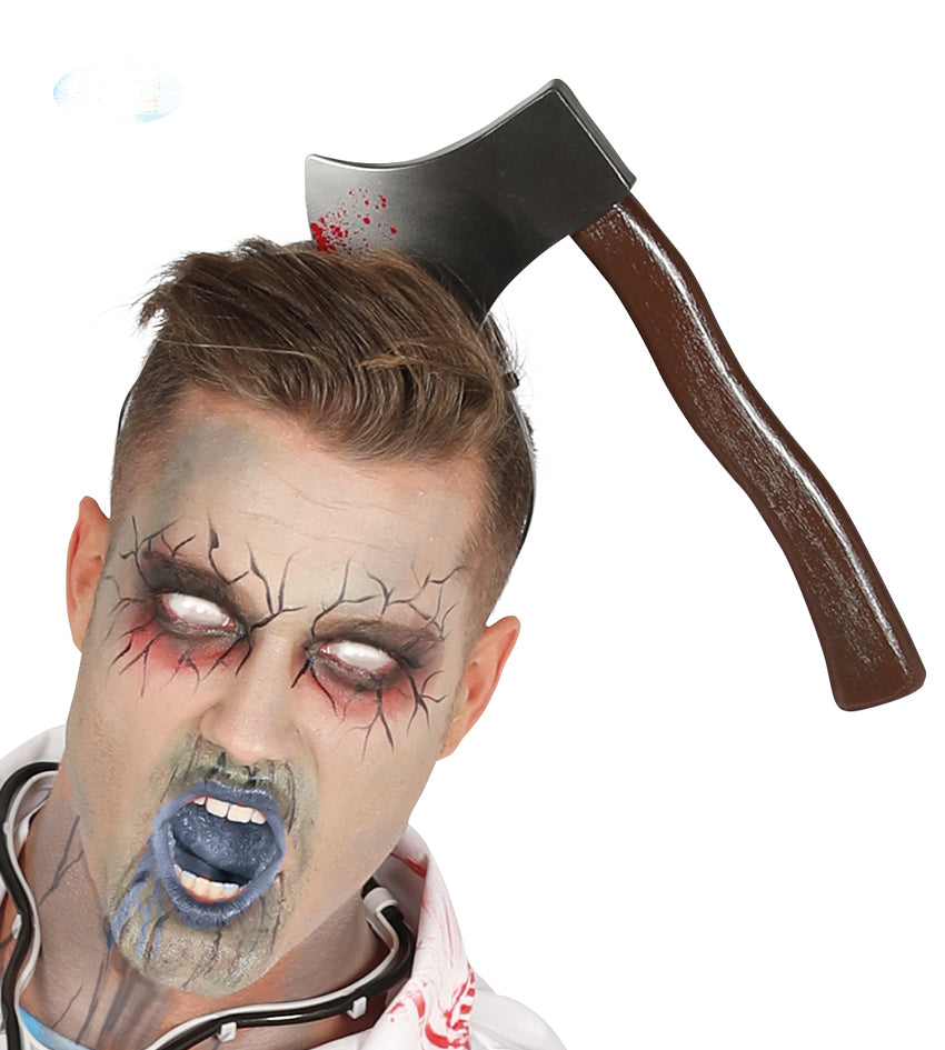 Axe In Head Halloween or fancy dress prop.