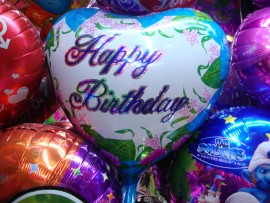 Happy Birthday Foil Balloon Flowers