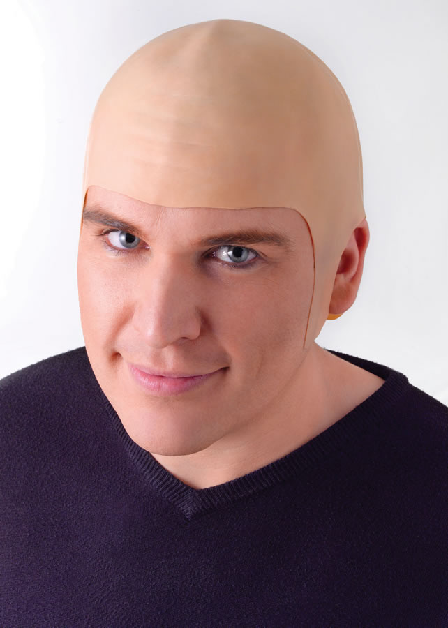 Bald Head Rubber Realistic