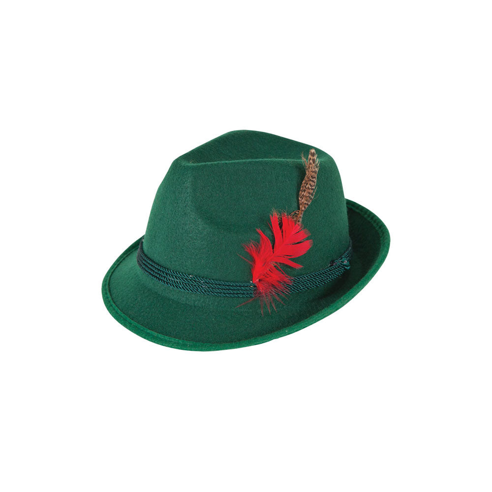 Bavarian Alpine Oktoberfest Hat Green