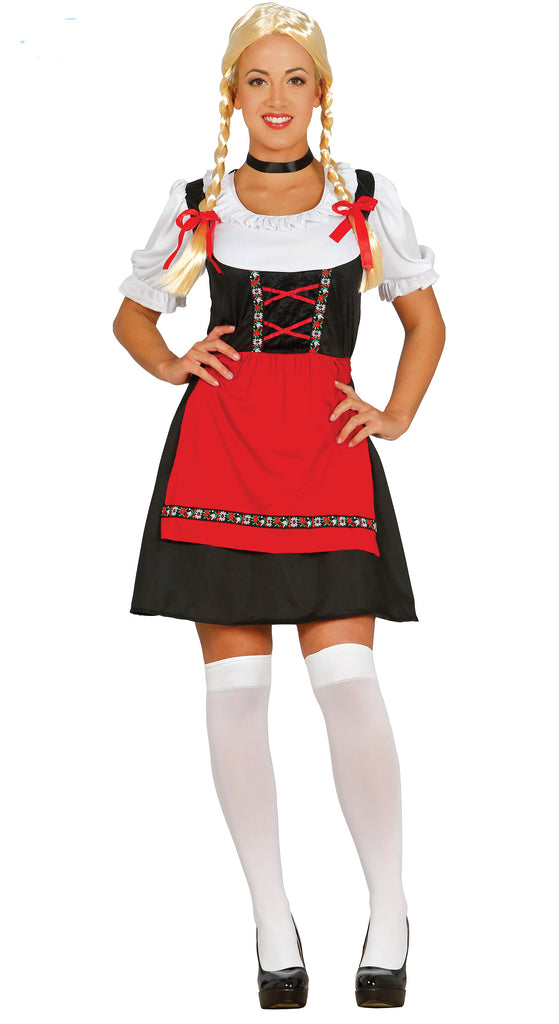 Ladies Bavarian Beer Girl Oktoberfest fancy dress Costume