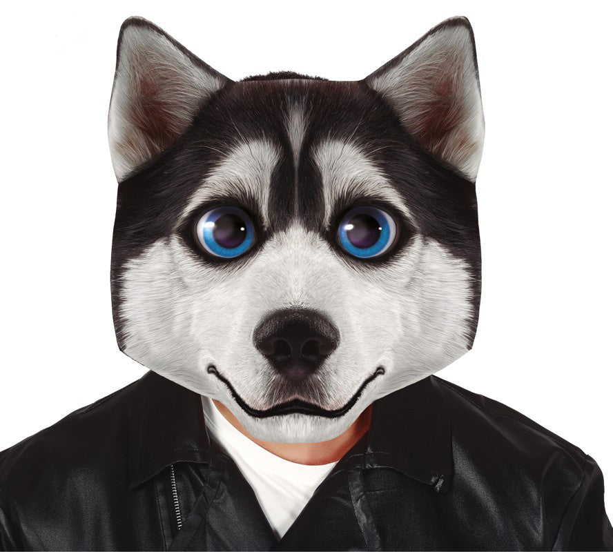 Big Head Husky Dog Oversized Mask