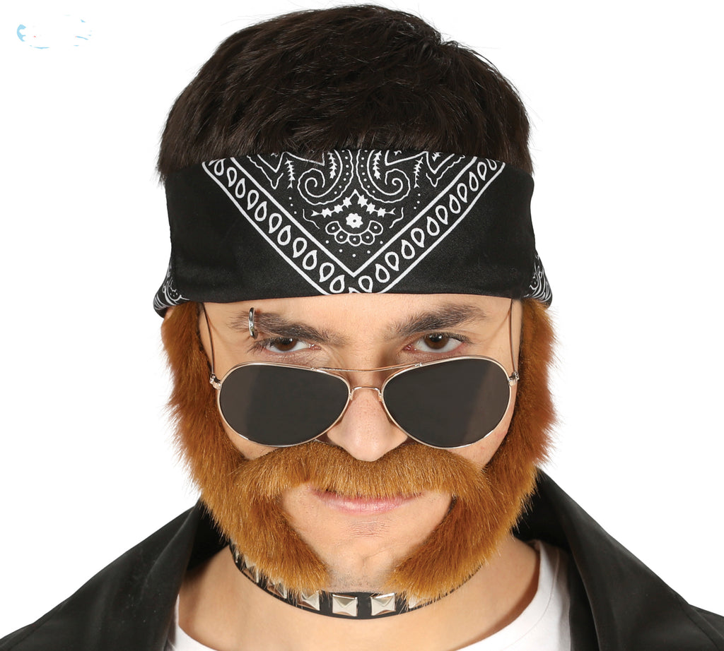 Biker Mutton Chops Ginger Sideburns & Moustache