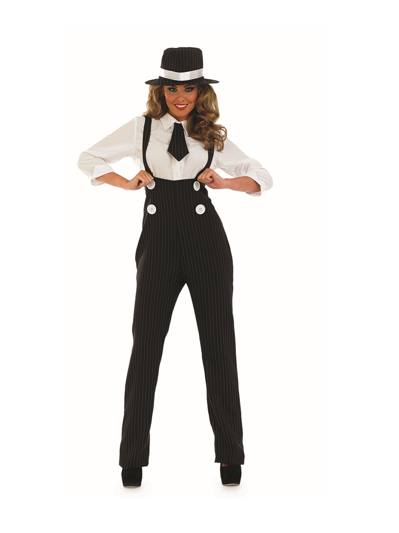 Black Gangster Lady fancy dress outfit