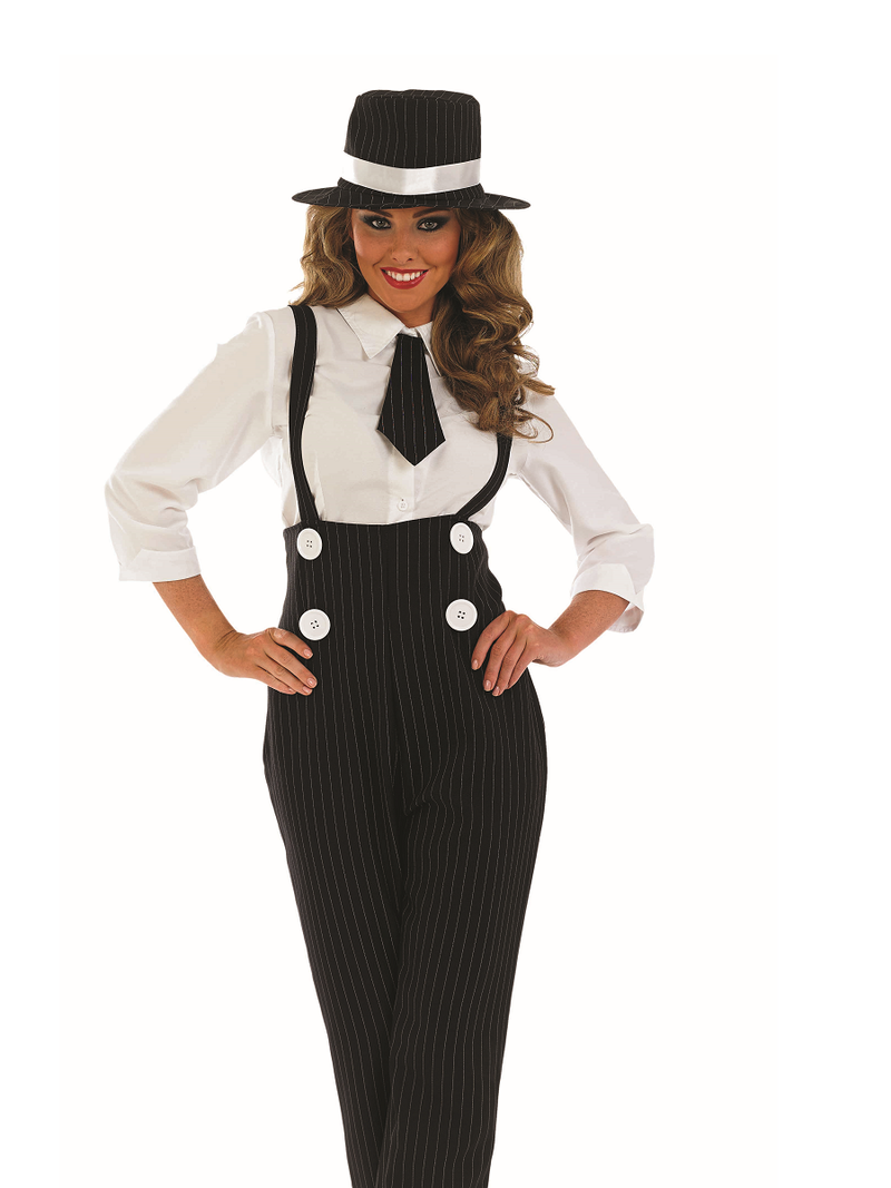 Black Gangster Lady Costume