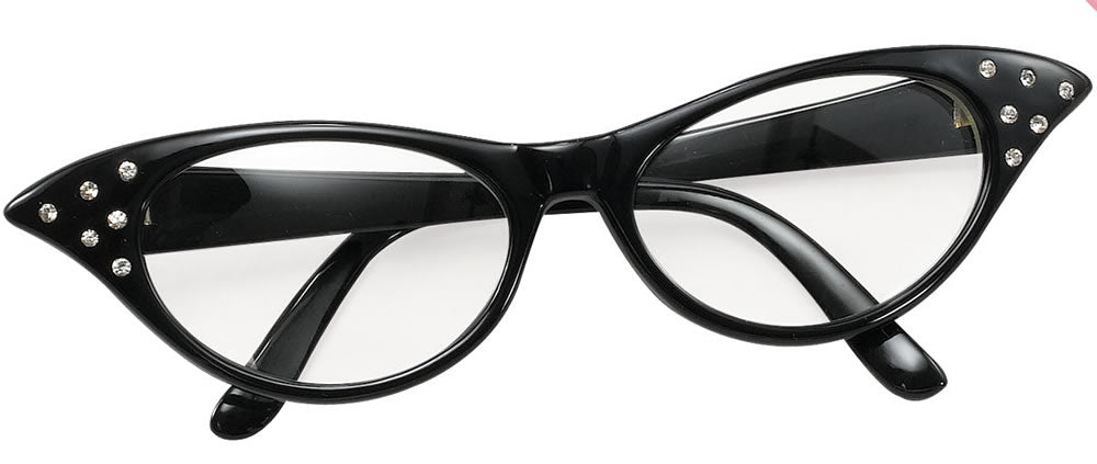 1950's Glasses Black