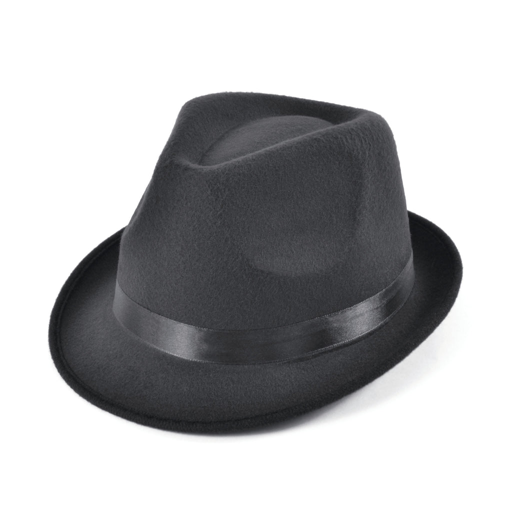 Deluxe Blues Brothers Black Fedora Hat
