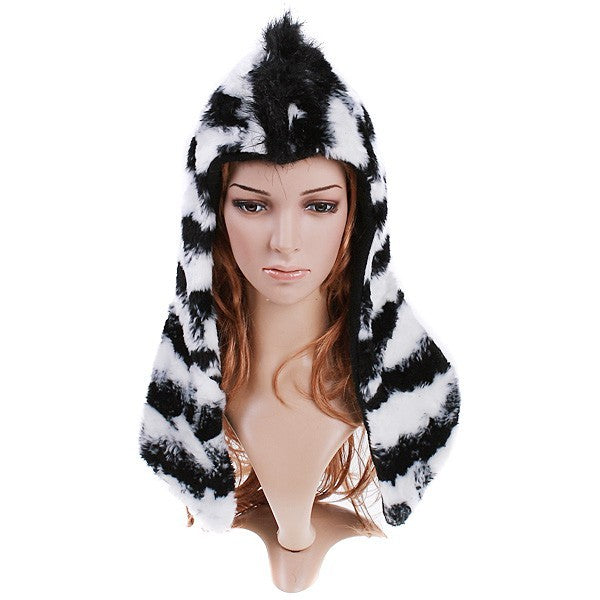 Black and White Zebra Hat