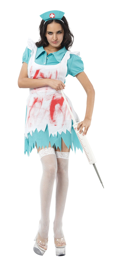Blood Splattered Nurse Costume Adult