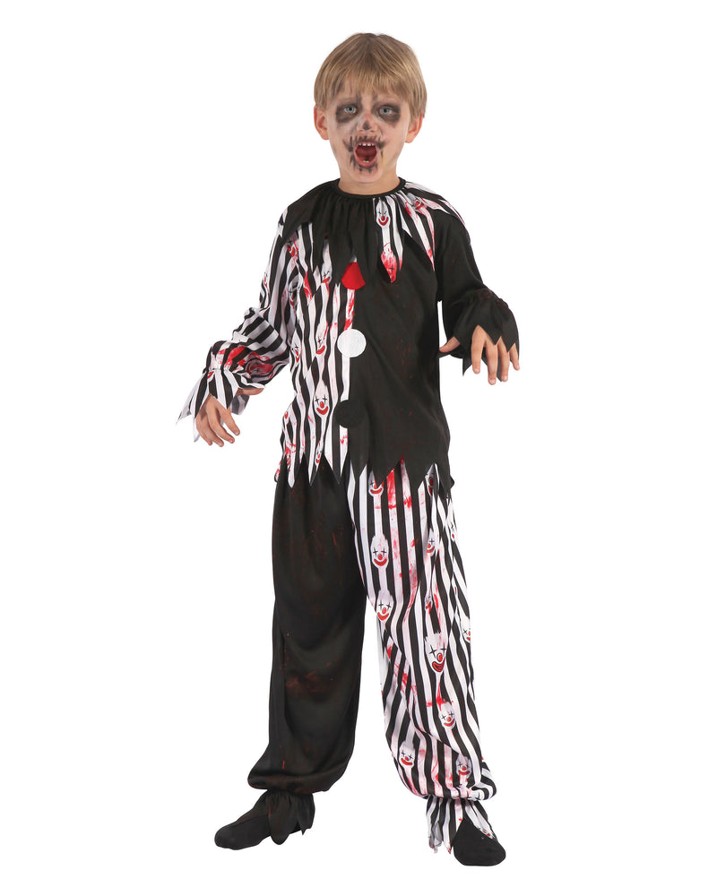 Bloody Harlequin Clown Costume for a boy