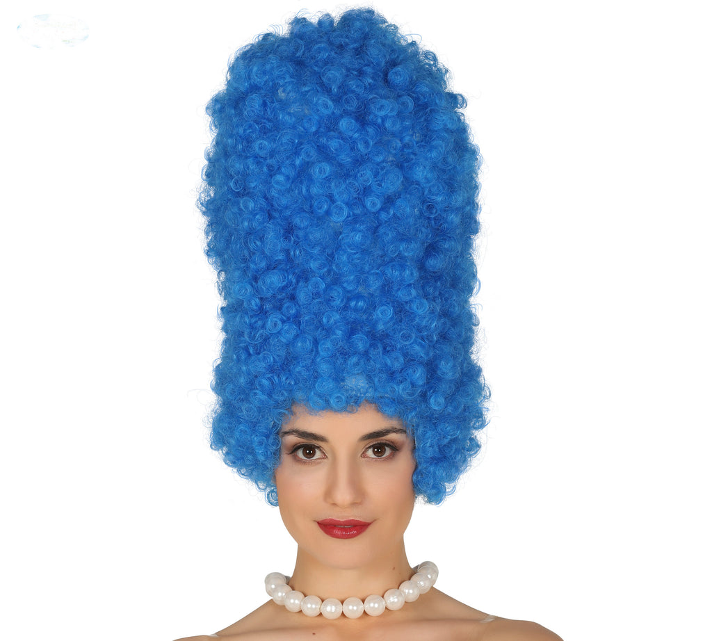 Blue Curly Marge Simpson Wig