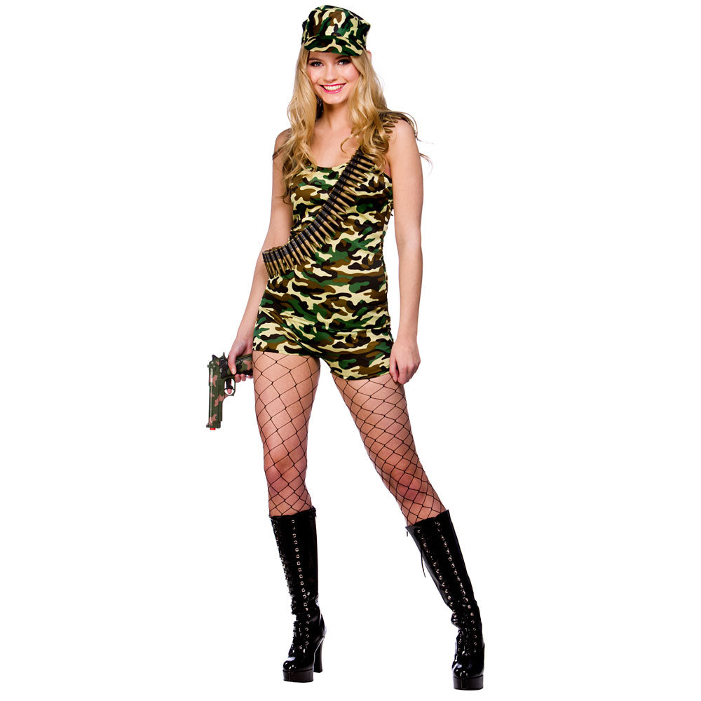 Ladies bootcamp babe army costume