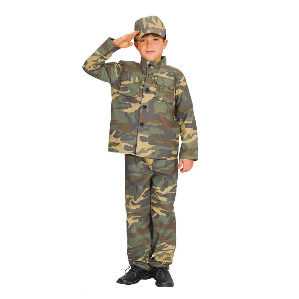 Boy's Action Commando Soldier Army Costume