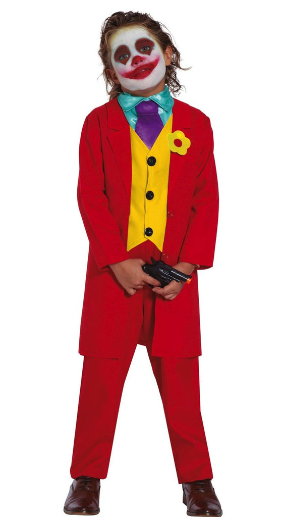 Boys Mr Smile Joker Costume