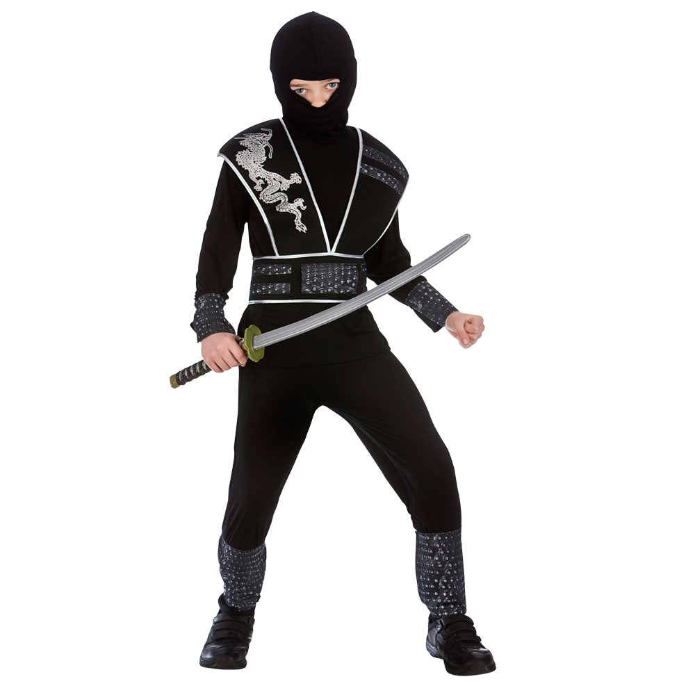 Boys Elite Shadow Ninja Fancy Dress Costume