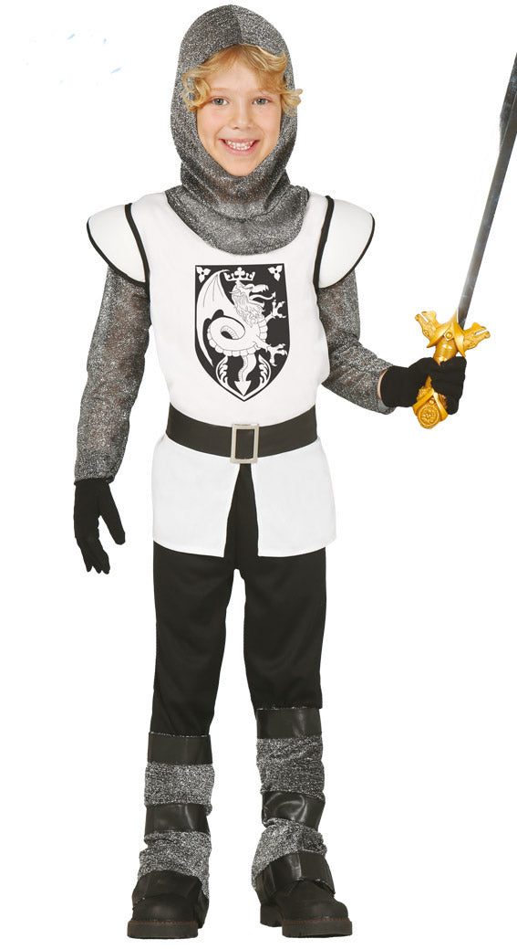 Boys White Crusader Knight Children's Costume