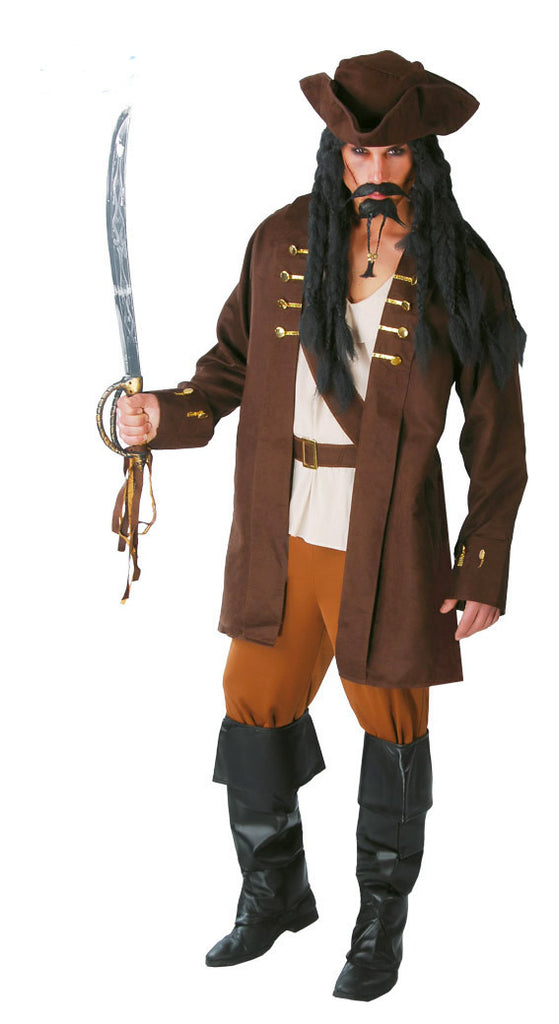 Buccaneer Pirate Captain Fancy Dress Costume