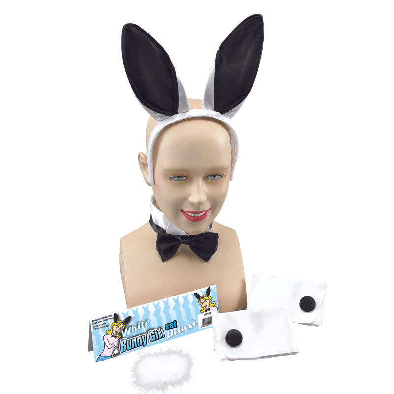 Ladies Playboy Bunny Girl Set White And Black