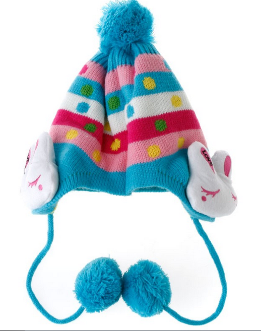 Bunny Ear beanie hat for children