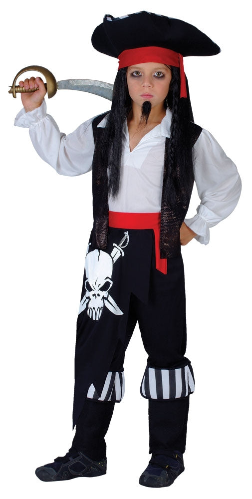 Boys Pirate Captain Blackheart Fancy Dress Costume