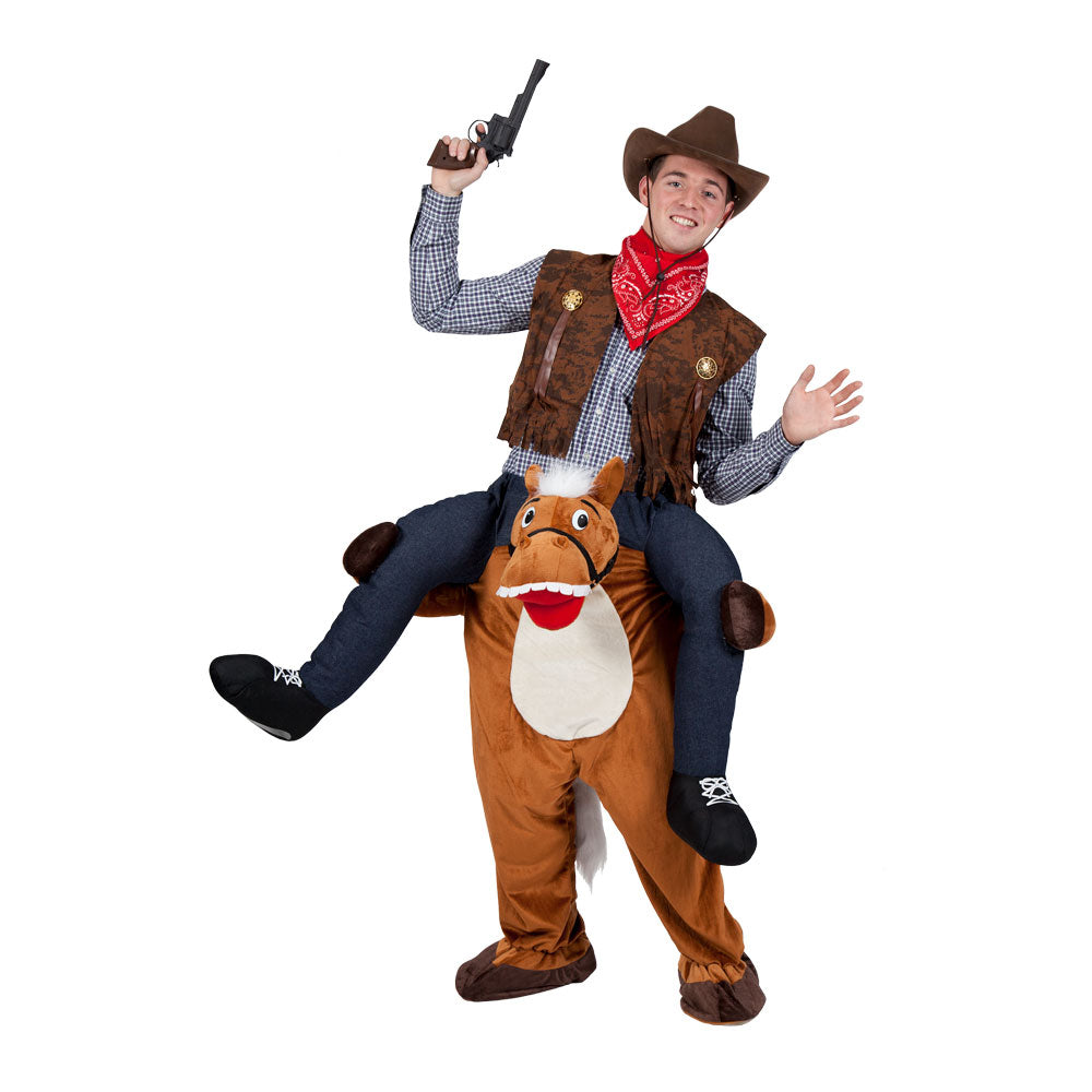 Carry-Me Horse Cowboy fancy dress costume.