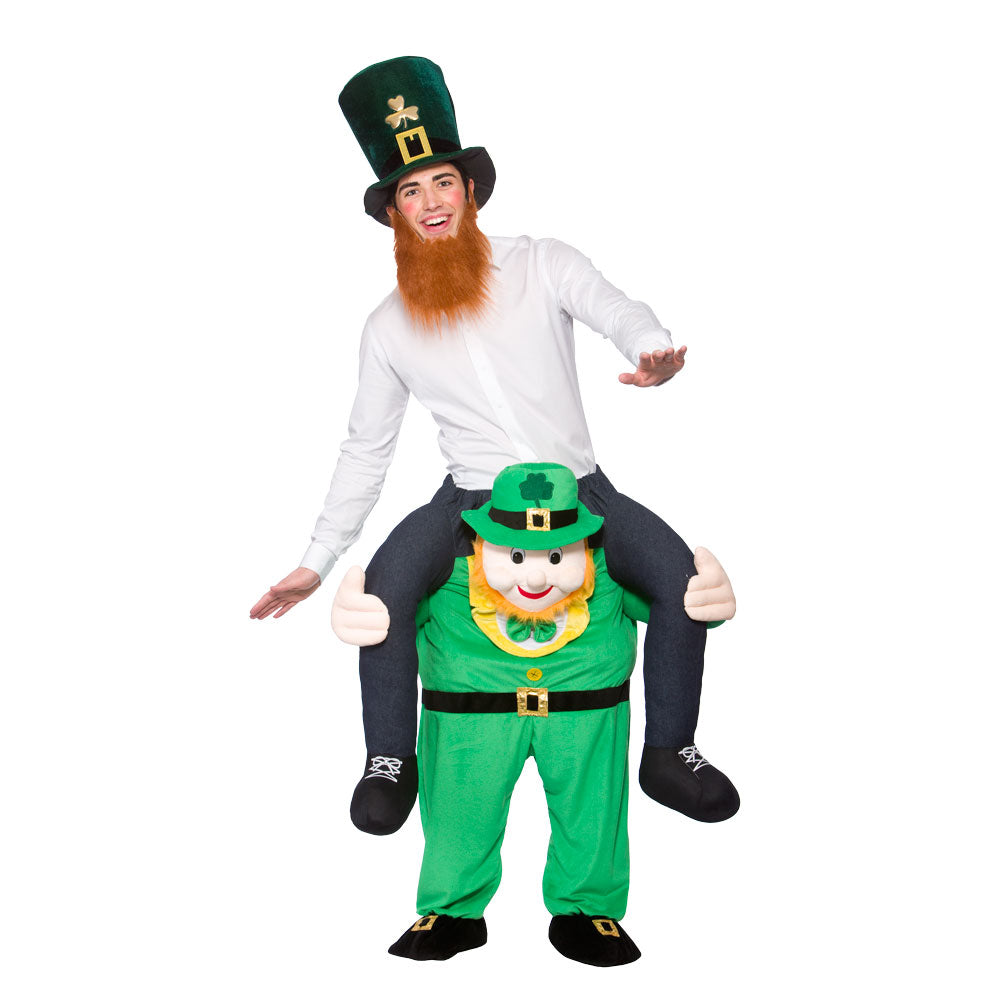 Carry Me Leprechaun fancy dress costume.