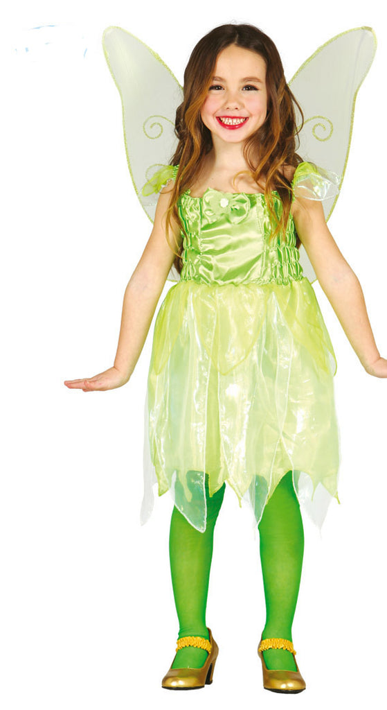 Girls green little fairy costume.