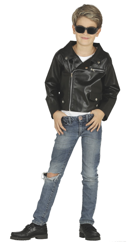 Children's faux leather jacket
