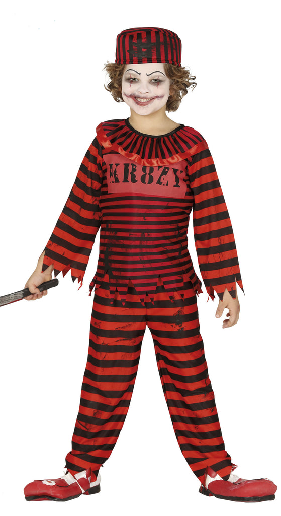Child's Clown Convict Costume