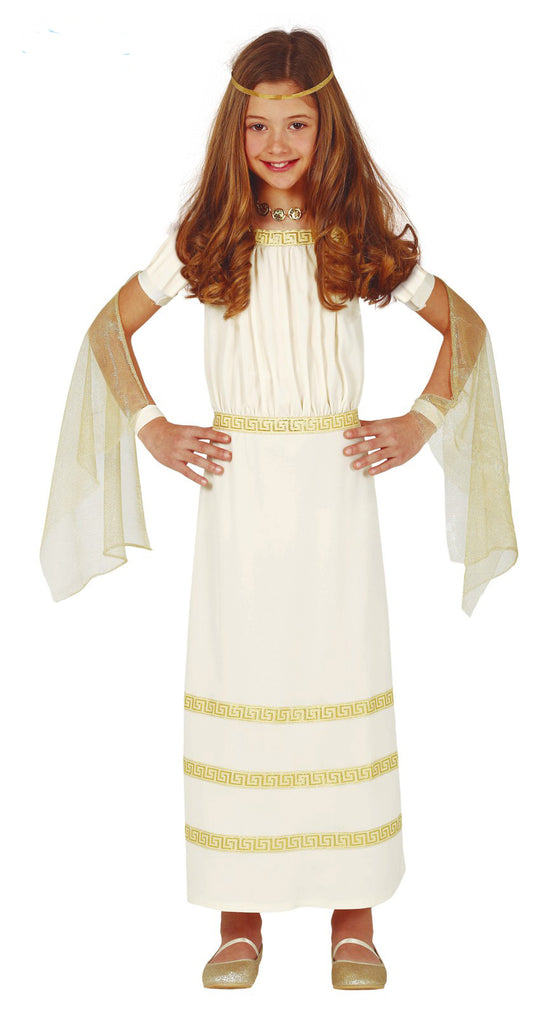 Children's Roman Empress or Goddess dress up costume for girls..