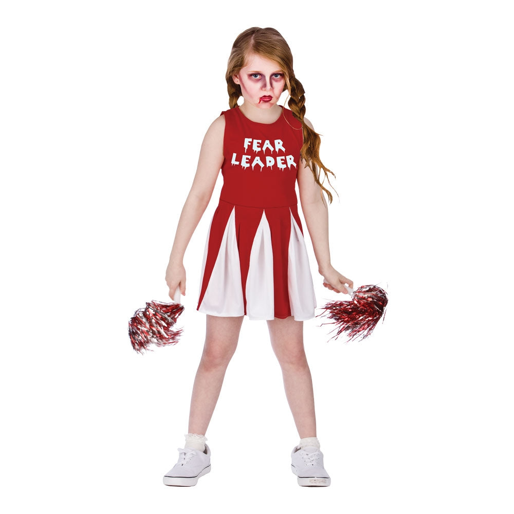 Fear cheerleader zombie costume girls