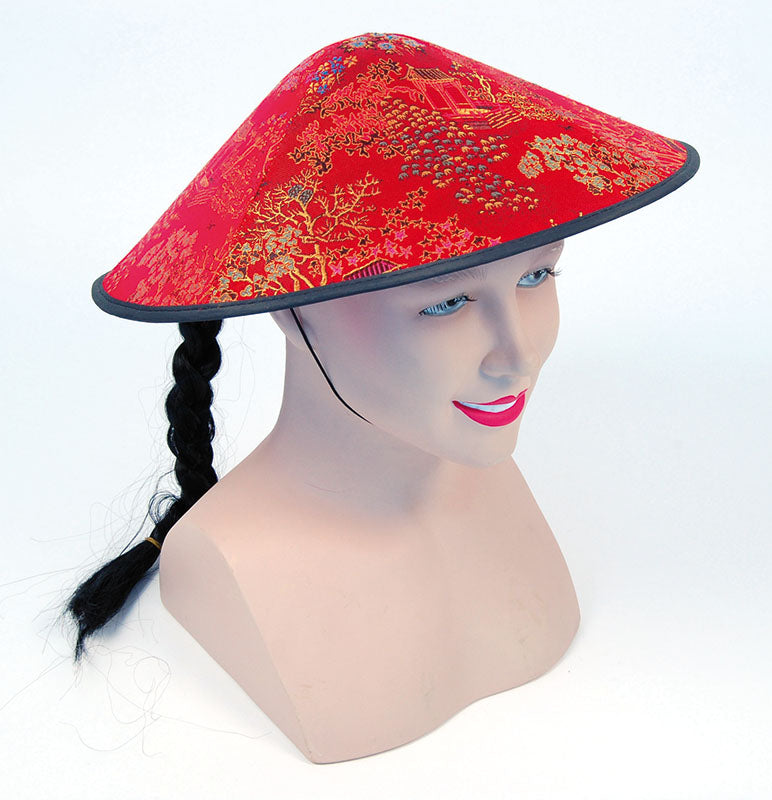 Chinese red Coolie Hat
