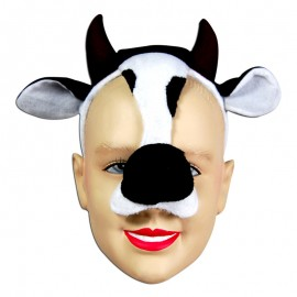 Cow Animal Mask On Headband