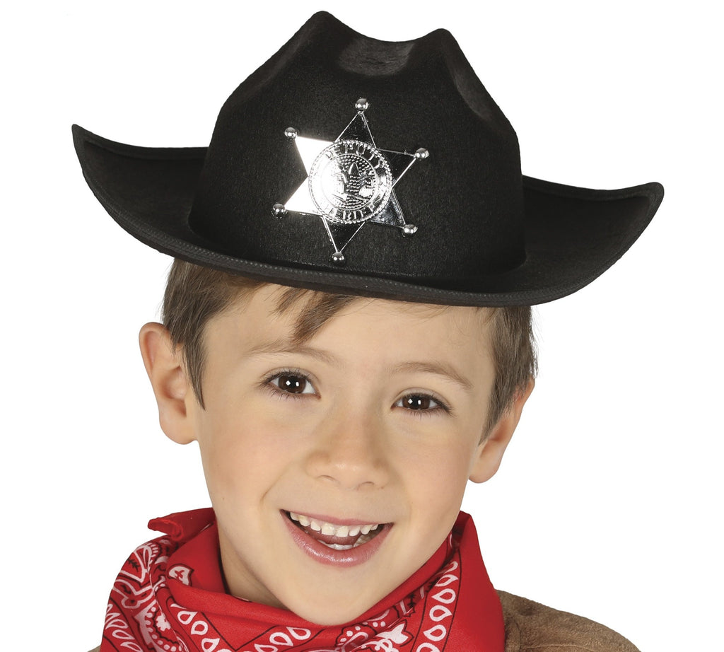 Cowboy Hat Kids Black