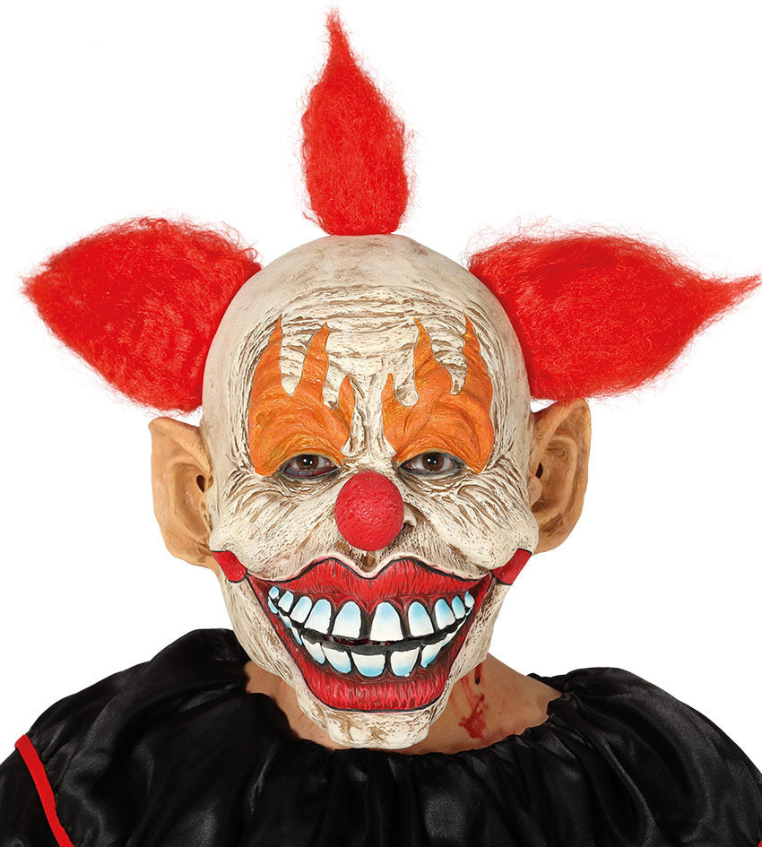 Crispy Clown Mask with red hair
