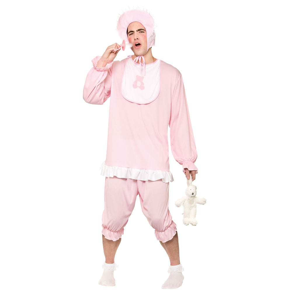 Men's Cry Baby Pink adult fancy dress Costume