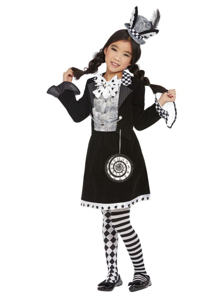 Dark Mad Hatter fancy dress Costume Girl