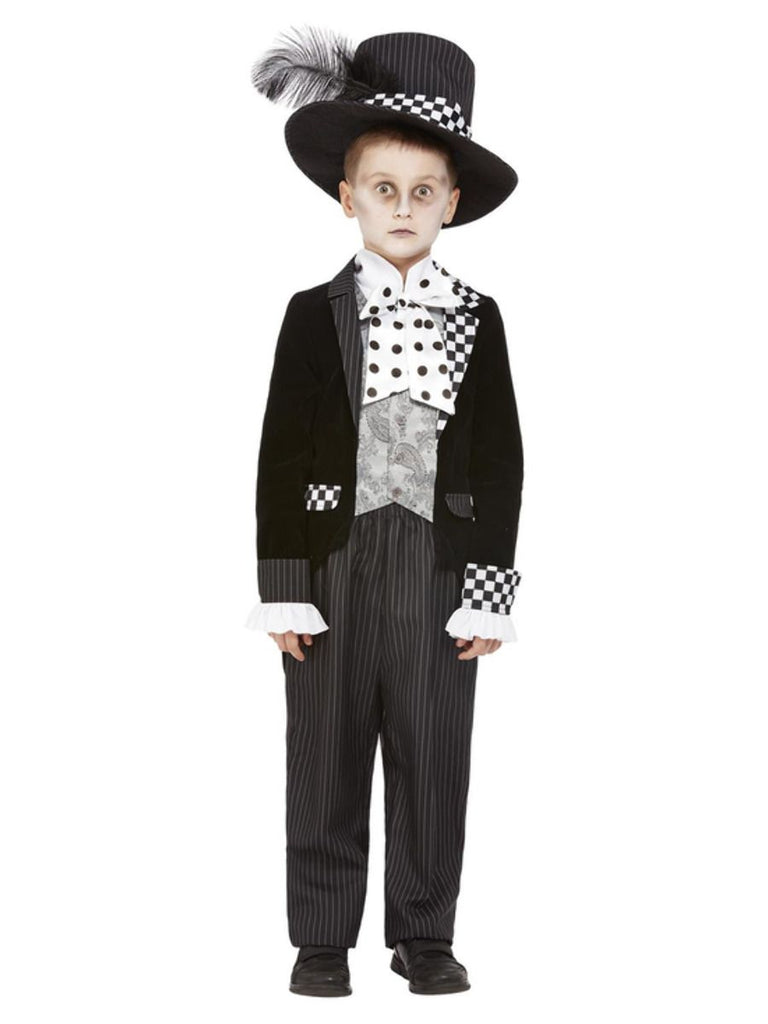 Child's Dark Mad Hatter dress up outfit Boy