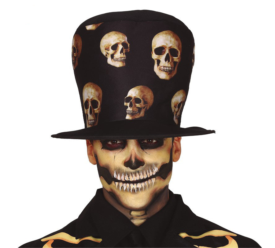 Day of the Dead Skull Top Hat
