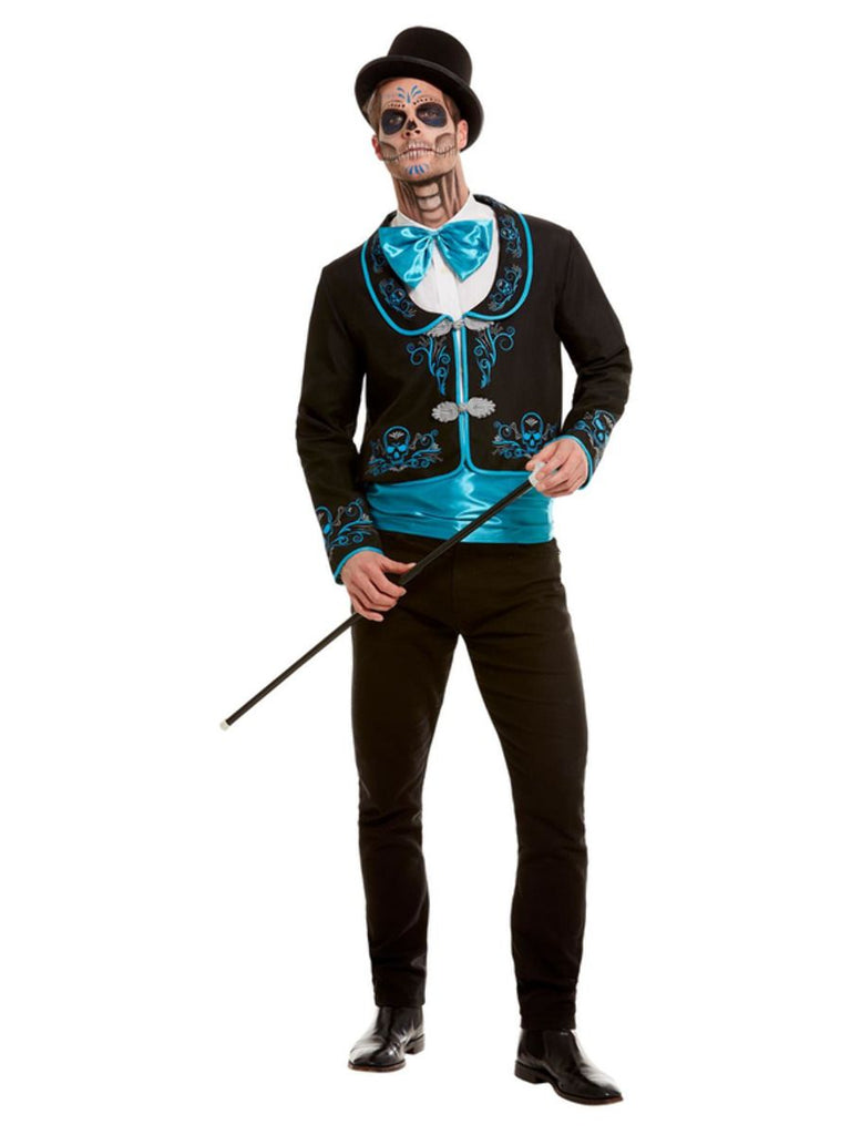 Day of the Dead Blue Costume Men's Adult Halloween
